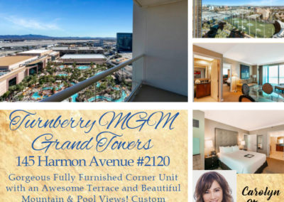 145 Harmon Avenue #2120 Turnberry MGM Grand Towers