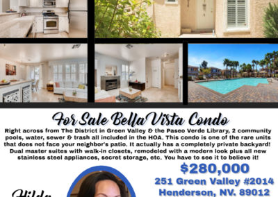 251 Green Valley #2014 Bella Vista Condo