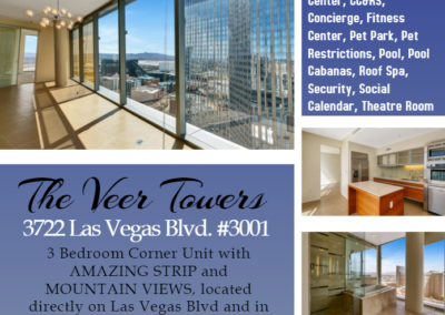 3722 Las Vegas Blvd. #3001 The Veer Towers